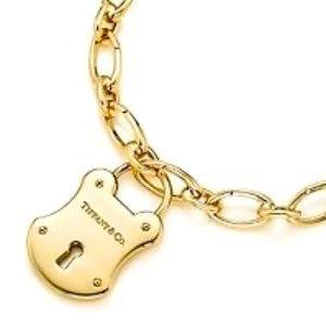 Tiffany & Co. Retired Emblem Lock Pendant or charm